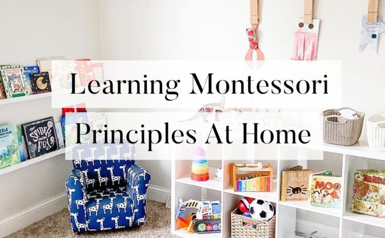 LEARNING MONTESSORI PRINCIPLES AT HOME